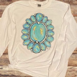 TURQUOISE CONCHO Long Sleeve Graphic Tee